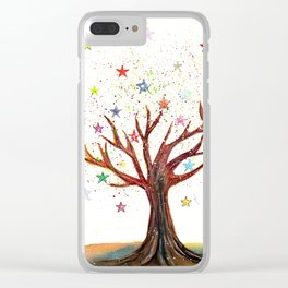 Star Tree Illustration Art Clear iPhone Case