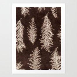 Botanical Pattern 6 (brown) Art Print