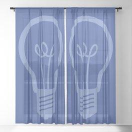BlueLight Bulb Sheer Curtain