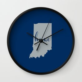 Indiana is Home - Go Colts Wall Clock