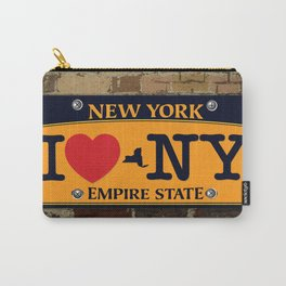 I love NY New York Car Licence Plate Carry-All Pouch