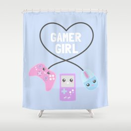 Gamer Girl Shower Curtain