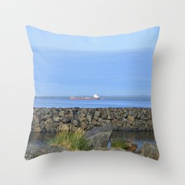 ore boat Throw Pillow