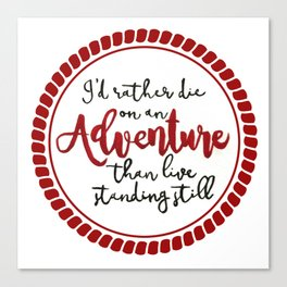 On An Adventure  Canvas Print