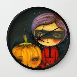 Trick Or Treating Wall Clock