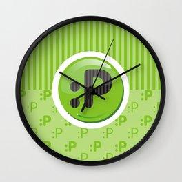 Green Writer's Mood Wall Clock