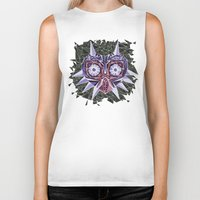 majoras mask Biker Tanks featuring Triangle Majora's Mask by NeleVdM