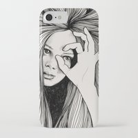 leo iPhone & iPod Cases featuring Leo by Hanna Viktorsson