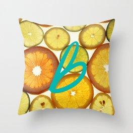 Citrus - Citron (Recettes du Bonheur) Throw Pillow