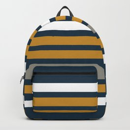 Stripe Cuff - Solid Minimalism in Gray, White, Light Mustard, and Navy Blue Backpack