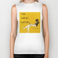 the great gatsby Biker Tanks featuring The Great Gatsby by MW. [by Mathius Wilder]