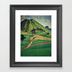 Crossing people's land in Iksey Framed Art Print
