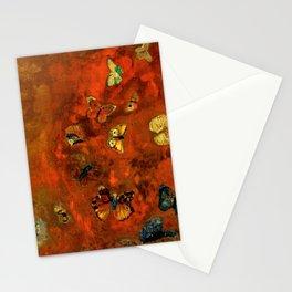 """Odilon Redon """"Evocation of butterflies"""" Stationery Cards"""