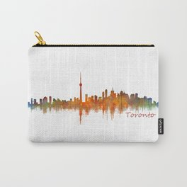 Toronto Canada City Skyline Hq v02 Carry-All Pouch