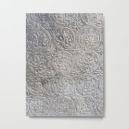 Cambodian Temple Wall Metal Print