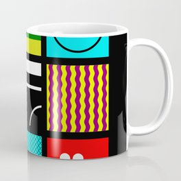 Eclectic 1 - Random collage of 9 bold colourful patterns in an abstract style Coffee Mug