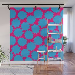Pop Art Starburst // Blue & Pink Wall Mural