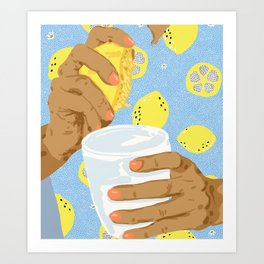 Squeeze The Day #painting #illustration #eclectic Art Print