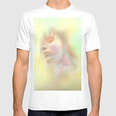 Girl of May Mens Fitted Tee MEDIUM White