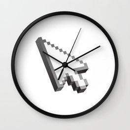 Pixelated 3D cursor (arrow) Wall Clock