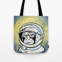 ape Tote Bags featuring Space Ape by Fanboy30