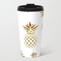 Golden Pineapple Metal Travel Mug