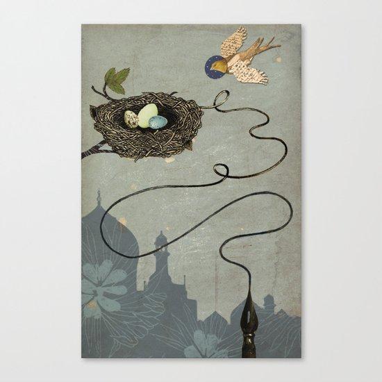 Bird's Winged Flight Canvas Print