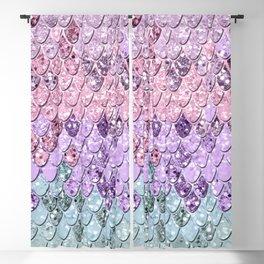 Mermaid Scales with Unicorn Girls Glitter #1 #shiny #pastel #decor #art #society6 Blackout Curtain