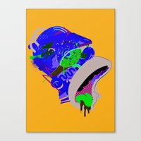 homer Canvas Prints featuring Homer 1. by Huxley Chin
