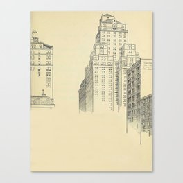 Vintage Skycrapers Canvas Print