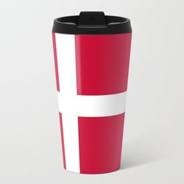 The flag of danmark Travel Mug
