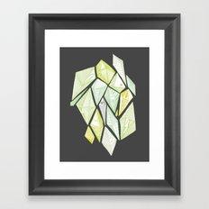 green diamonds Framed Art Print