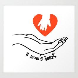 Mom's Heart Art Print