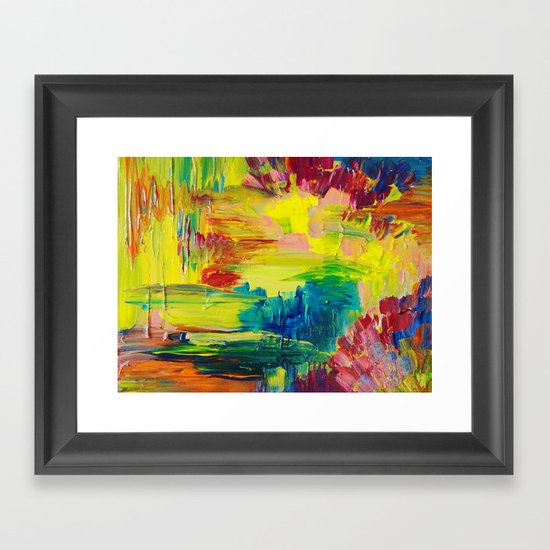 GOING THROUGH THE MOTIONS -  Stunning Saturated Bold Colors Modern Nature Abstract Framed Art Print