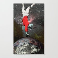 Skating Across The Universe Canvas Print