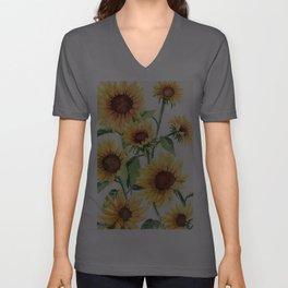 Sunflowers Unisex V-Ausschnitt