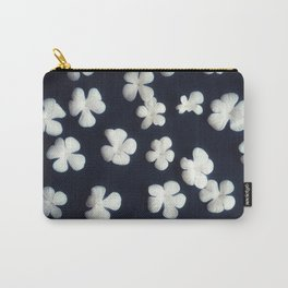 White petals 5 Carry-All Pouch