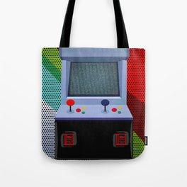 Retro Arcade Joystick Video Game Tote Bag