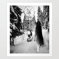 pagan Art Prints featuring Pagan forest by Kristina Haritonova
