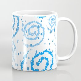 Abstract Blue Squigglisciousness Coffee Mug