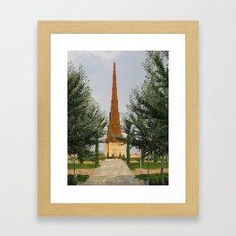 Monument Again Framed Art Print