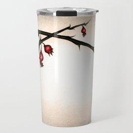 Mystery Garden: Red briar in a pearl-grey mist Travel Mug