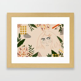 Jungle girl Framed Art Print