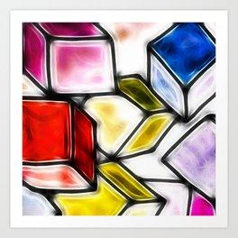 Fractalius cubes Art Print