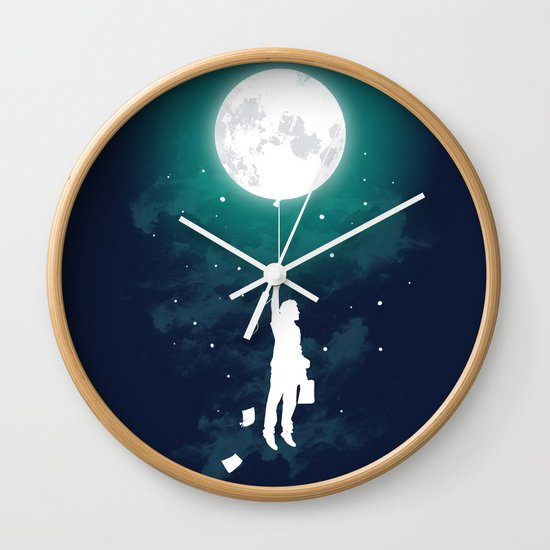 Burn the midnight oil Wall Clock
