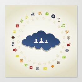 Business a cloud Canvas Print