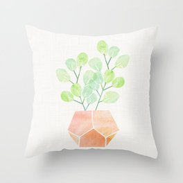 Bonsai Jade Plant Throw Pillow
