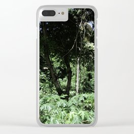 Tropical trees Clear iPhone Case