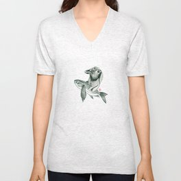 Rabbit & Rocketfish Unisex V-Neck