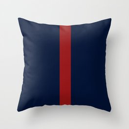Navy Red Throw Pillow